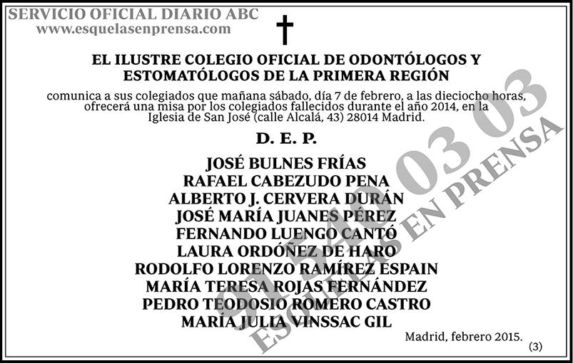 Ilustre Colegio Oficial de Odontólogos y Estomtólogos de la Primera Región